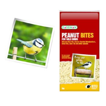 Gardman A05080 Peanut Bites 1kg available from Strawberry Garden centre, Uttoxeter