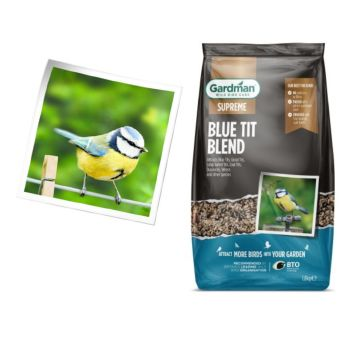 Gardman A06630 Blue Tit Seed Blend 1.8kg available from Strawberry Garden Centre, Uttoxeter