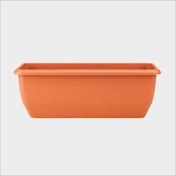stewart plastics balconniere terracotta trough available from Strawberry Garden Centre, Uttoxeter