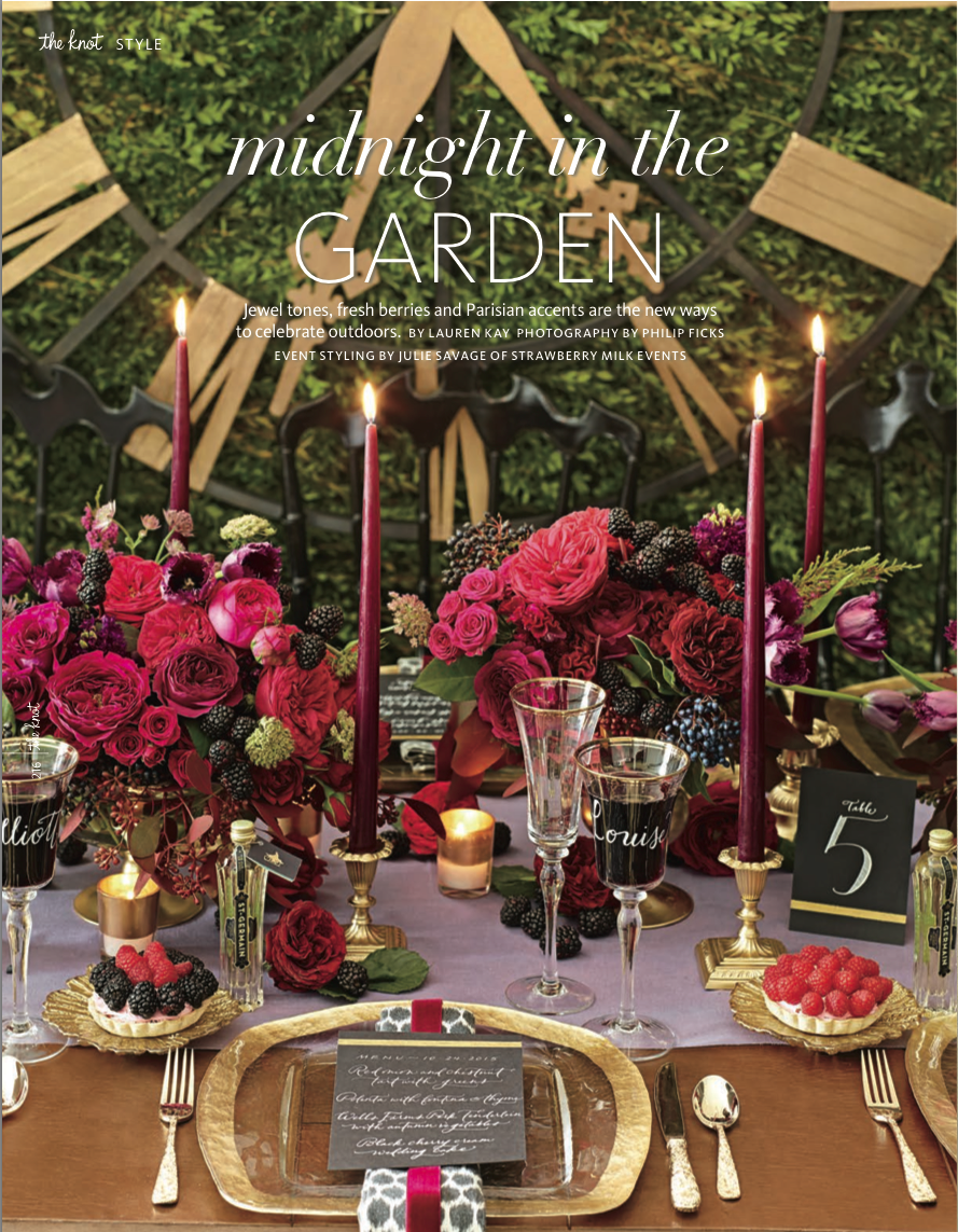 Midnight In The Garden Styling For The Knot Winter 2014