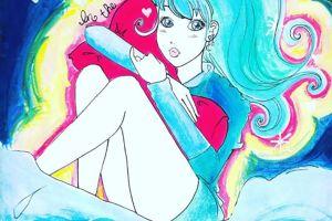 wongkarwai_love_hugging_pillow_bluehair_girl