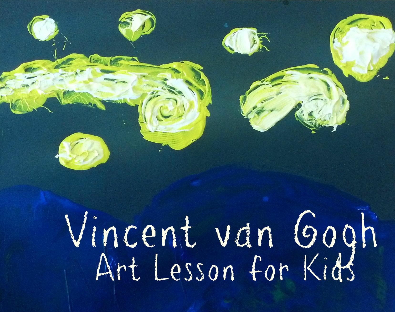 Kids Art Lesson Vincent Van Gogh Strawberry Moon