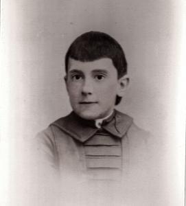 Anna Sailer as a Child in 1887