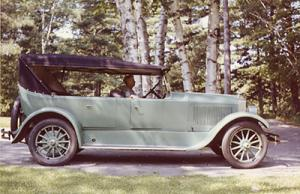 Mary Lowber Sailer in her Moon Automobile
