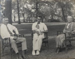 William Wilson White with His Father, Son, and Grandmother