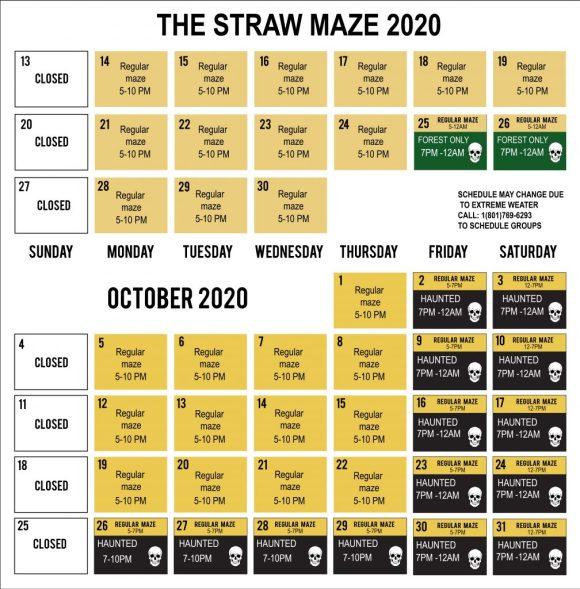 2020 Straw Maze Calendar