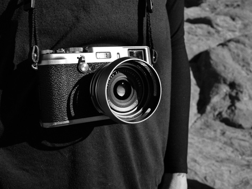 Jordan's Fujifilm X100 on a sunny January day.