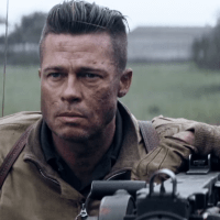 Brad Pitt - Fury (2014) movie hairstyle