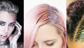 Your guide to feather hair extensions strayhair glitter roots the most ridiculous hair trend pmusecretfo Image collections