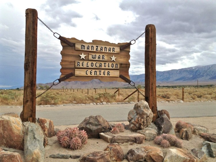 Located almost directly across Hwy 395 from Manzinar National Historic Site is Manzinar/Reward Road.