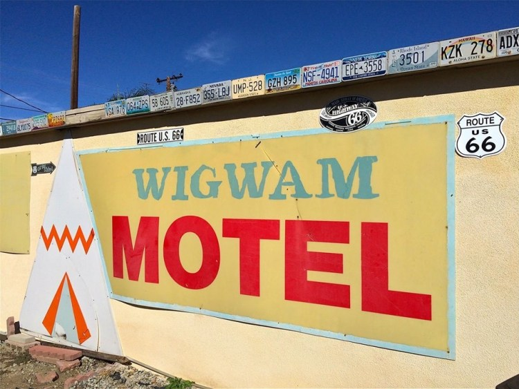 Less than 5 miles away from the birthplace of McDonald's is the fabulous Wigwam Motel.