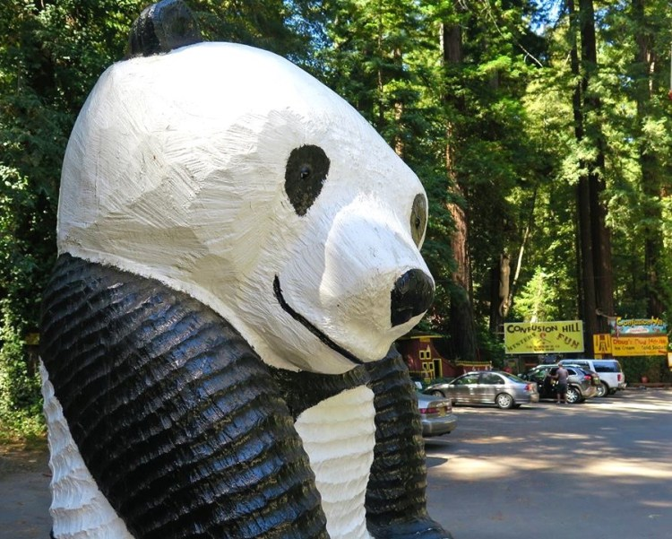 ...and be on the lookout for the giant smiling panda.