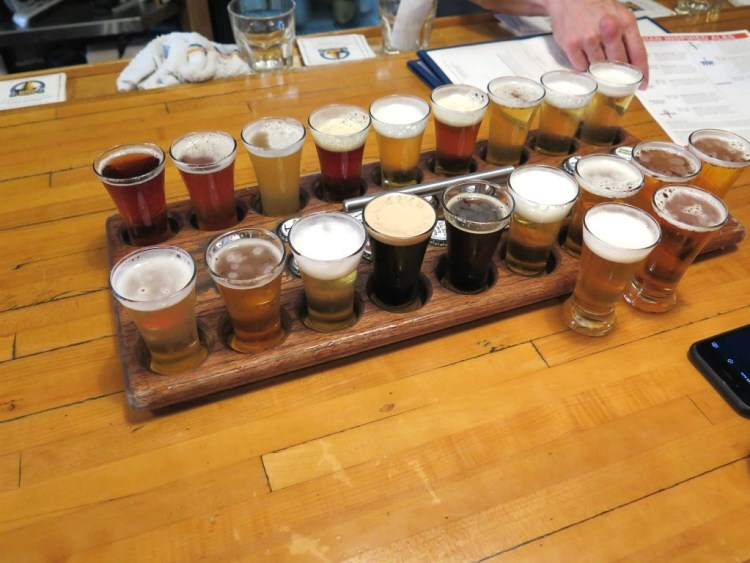 Yes that's one flight and it was all Darby's, although I did enjoy a couple of their sours. — with Darby Aldaco.