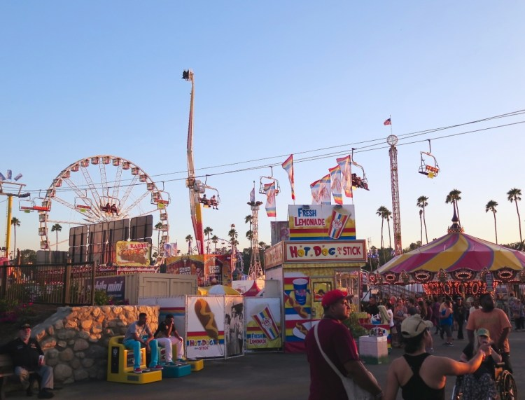 Magic hour begins on the Midway.
