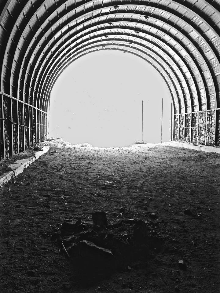 Tunnel 2 is a little shorter and slightly more abandoned.