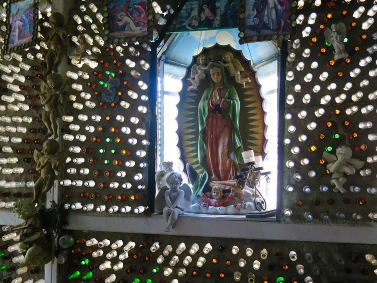 The crown jewel of Tio's may be the chapel Sanchez built out of multi-colored bottles and other recycled materials as a gift to his wife, Concepcion.