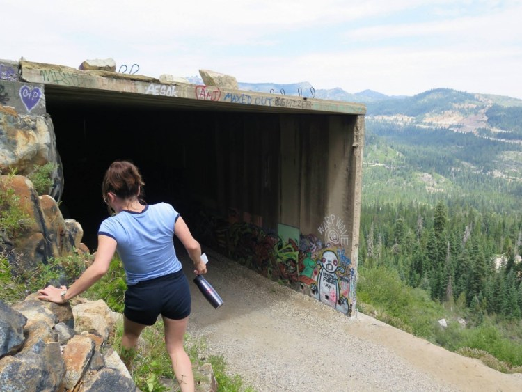 After exiting the east portal of Tunnel #12 we decided to climb on top and check out the snowsheds from a different perspective.