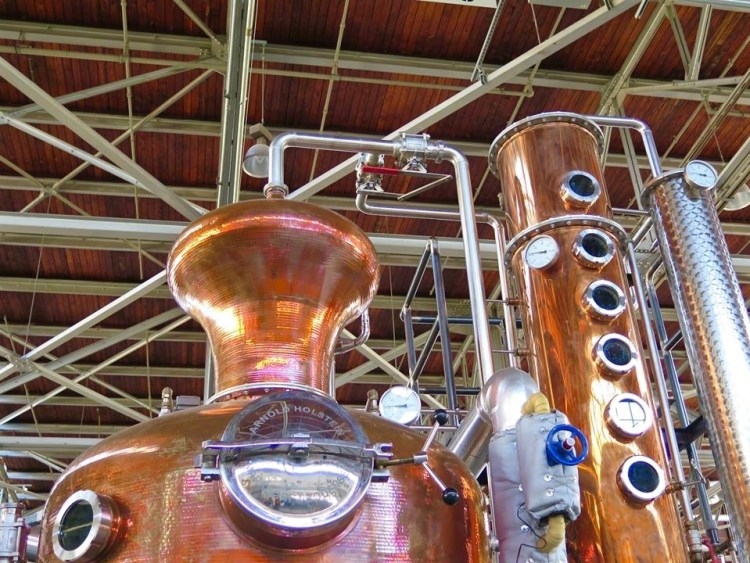 St. George Spirits is also known for the 10-liter test still that is kept on site and operated like a laboratory where experiments are always being conducted.