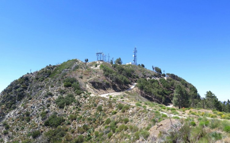 Heading up to San Gabriel Peak from the launch site.