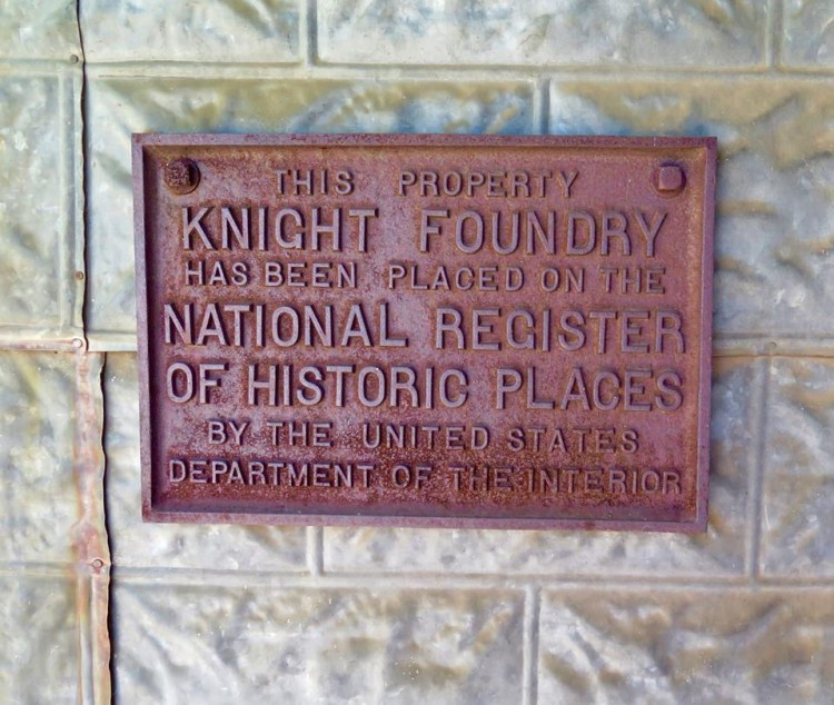 Additionally, Knight invented several other types of mining equipment, with the foundry having a total of eight patents for machines designed in his shop, one of them being after Knight's death. Knight dredger pumps were used in San Francisco Bay, Puget Sound, and the Willamette and Columbia Rivers.