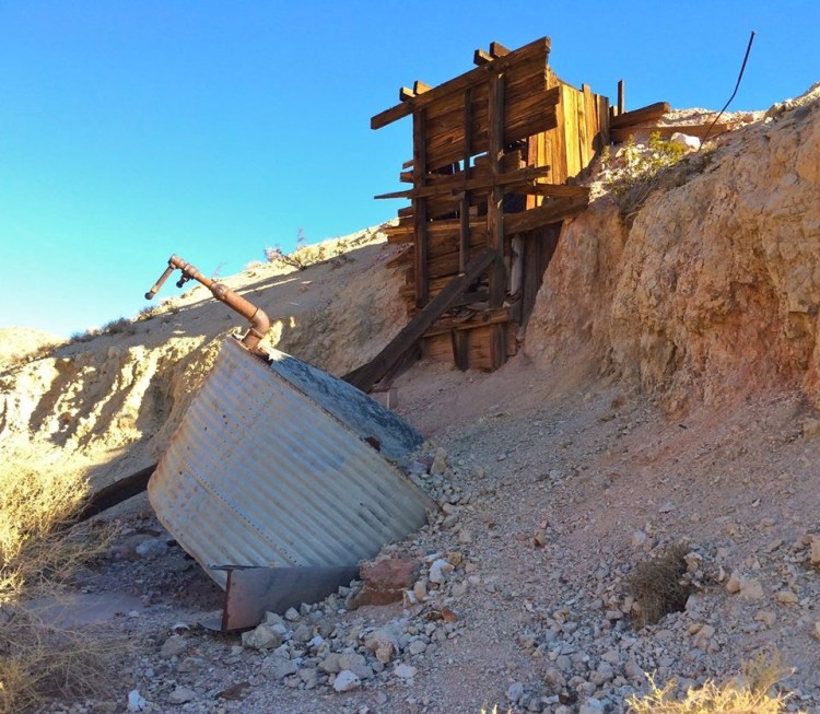 An unidentified abandoned mine off Highway 14.