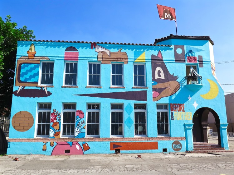 """Married Australian artist duo DABSMYLA presents """"Before and Further"""", a 4,000 square foot installation takeover of a stand-alone 1930 built Spanish Revival workplace building."""
