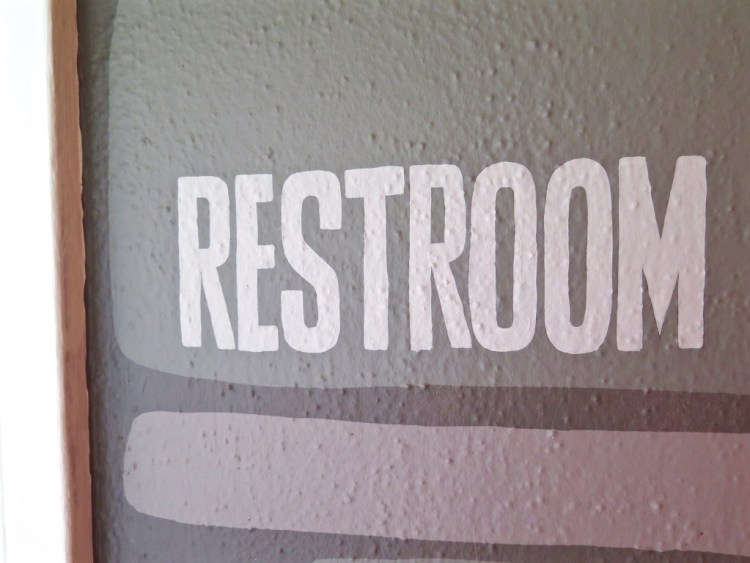 Even the restroom sign was a DM creation.