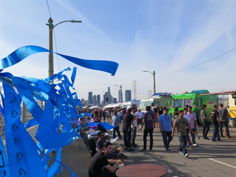 Fans of the structure from across the city joined Boyle Heights and Arts District residents for a lively farewell festival.