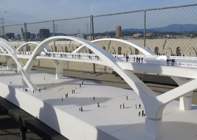Planners imagine the bridge as one that dedicates equal space to pedestrians, bicyclists and cars and integrates the two very different communities it connects.