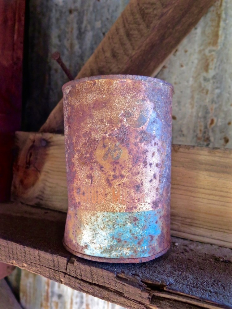 ...including this old oil can...