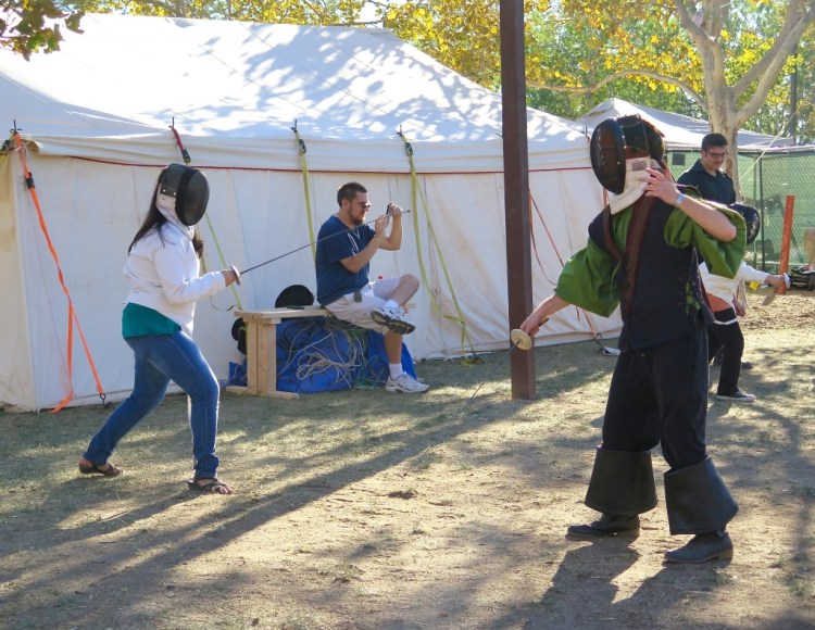 Fencing for the children.