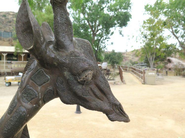 Only fake giraffes roam the grounds of Shambala.
