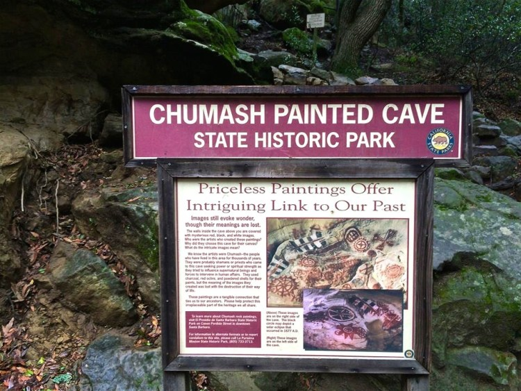 Chumash Painted Cave State Historic Park is located 11 miles northwest of Santa Barbara.