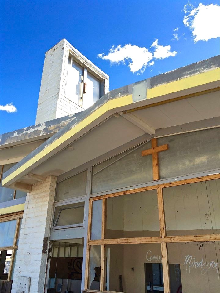 ...and where a roadside service station attempts to atone for a history of sin by becoming a church.