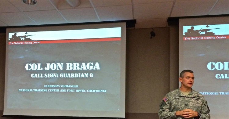 Col. Braga is a super cool bad ass. The day began with a glimpse into the economics and culture of how a nation prepares its soldiers for war; an orientation, of sorts, before we headed out to visit one of fifteen artificial cities scattered throughout the base.