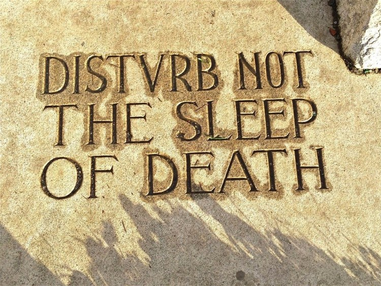"The front of the tomb bears the eerie words ""DISTVRB NOT THE SLEEP OF DEATH"". The pyramid is a Masonic Symbol, and several of the markings on the pyaramid indicate that the Freemasons were involved in the making of this monument for the Dorn family."