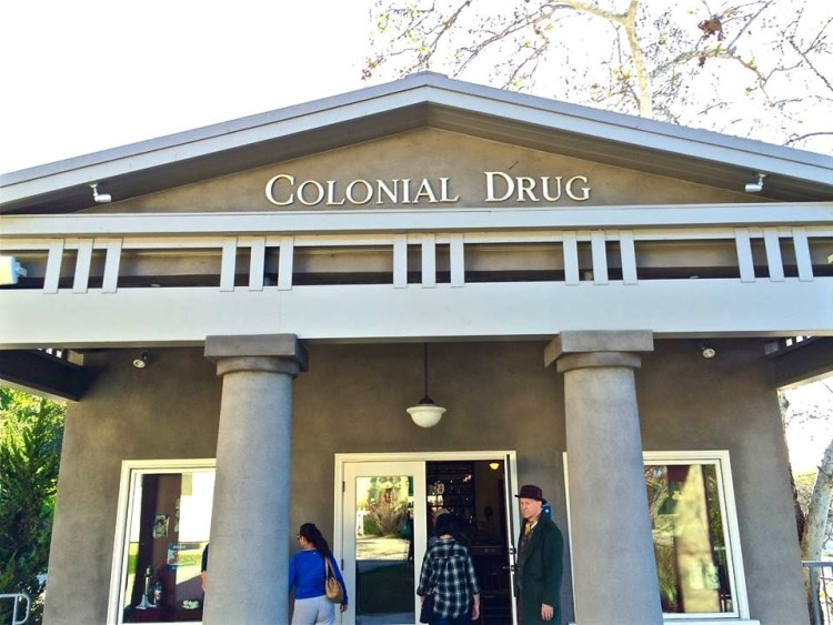 The Colonial Drugstore is a recreation of the original business that George A. Simmons owned and operated in Highland Park (just a mile away from Heritage Square) after World War I. Inside is a collection of over 80,000 items including pharmaceuticals, botanical, and cosmetics, most still in their original packaging. 95% of the items date between 1888 and 1950, and 90% are no longer being made or used making this collection the first of its kind in Southern California.