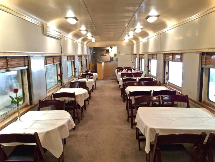 "UP-4051 - The Dining Car is an important part of the railroad passenger train. It's the place where passengers eat their meals, and it's specially configured to cook and serve food. Originally built in 1928 as part of a ten-car order of 36-seat diners, this car was later modernized to blend in with the ""streamlined"" cars of the day. The upgrading included the installation of large picture windows and a modified roof."