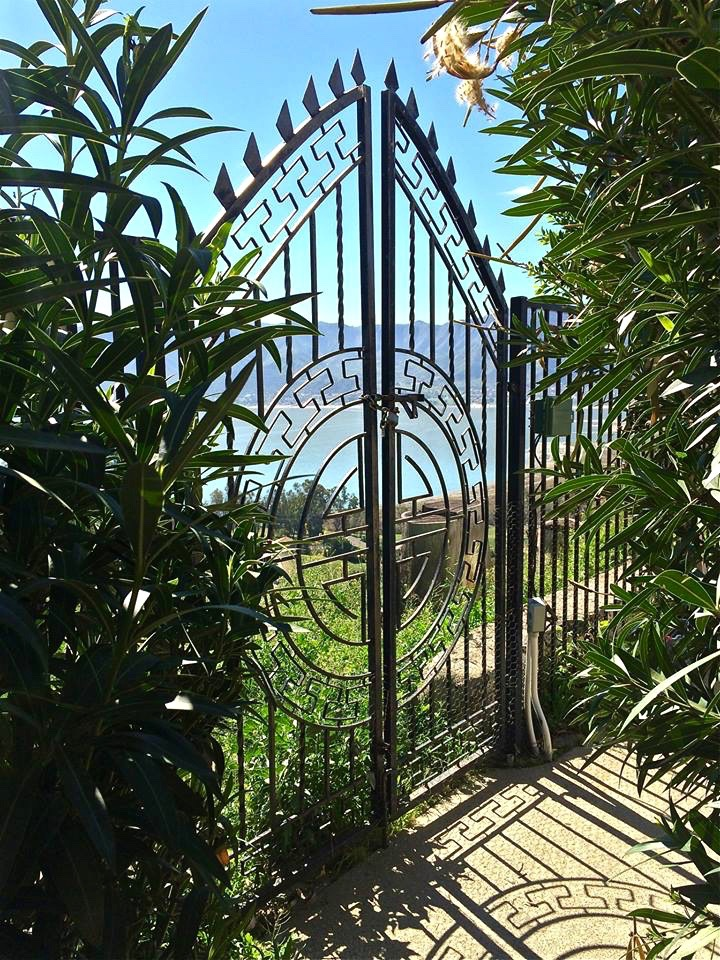 Of course Aimee's high celebrity status required a massive gate and fence to be built around the entire property.