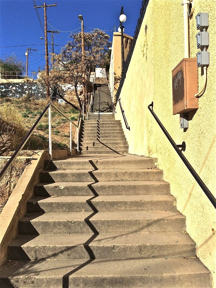 ... with tons of stairways to get you from one hill to another.