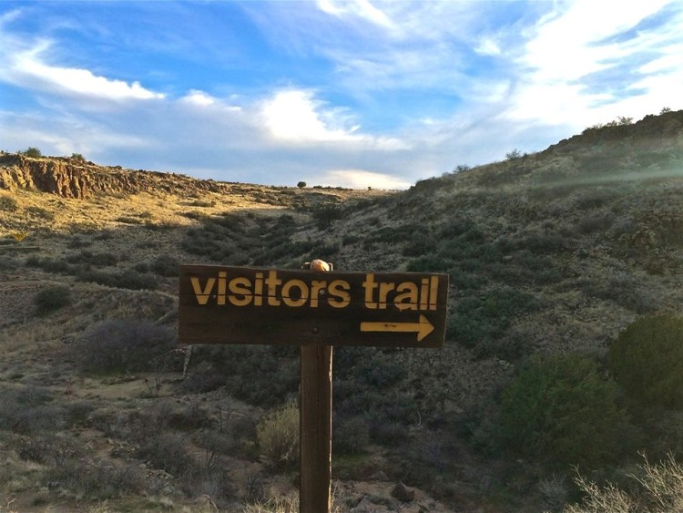 Visitors are welcome to take a self guided tour along this trail...