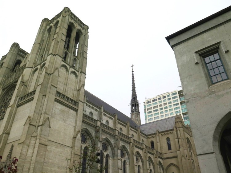 Designed in French Gothic style by Lewis Hobart, construction on the cathedral began in 1928. When it was finally completed in 1964, it was the third largest Episcopal cathedral in United States.