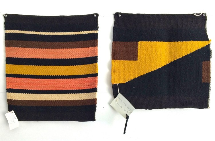 "With the weavings, she's spent the past few years ""trying to find the intersection between a subtle, minimal object that's both fine art and design."""