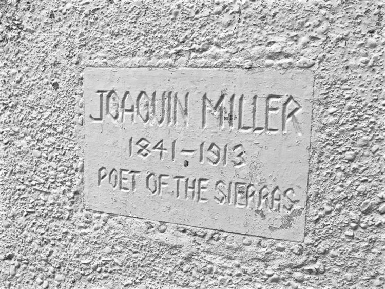 These follies were created by the eclectic poet Joaquin Miller. Born Cincinnatus Heine Miller in Indiana in 1837, Miller later reinvented himself in California.