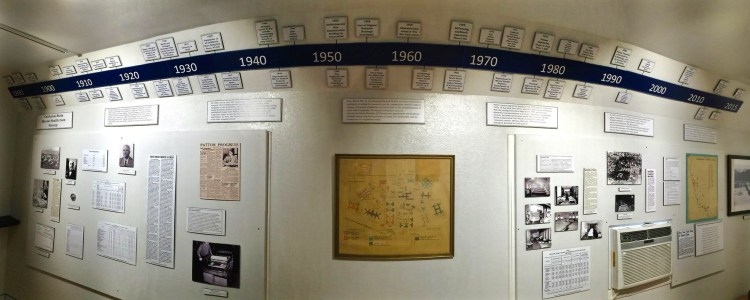 The first exhibit in the tour is a timeline of the hospital's history which also serves as a history of psychiatric treatment. The hospital was established in 1889 as the Highland Insane Asylum with the groundbreaking in 1890. Patton accepted its first patients on Aug. 1, 1893. It was in 1927 that the hospital changed its named to Patton State Hospital. The hospital now serves more than 1,500 patients each day with a staff of 2,390.