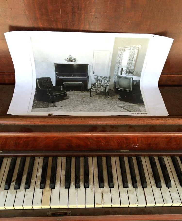 ...along with this piano that used to reside in one of the buildings.