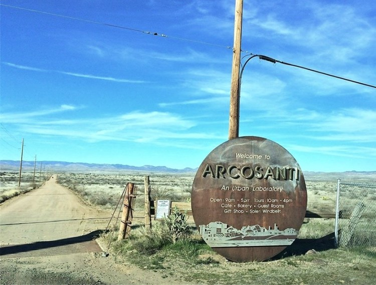 Arcosanti is located just a few miles off Interstate 17 in central Arizona.