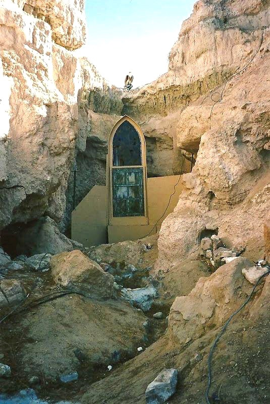Beautiful stained glass windows were once set in the canyon walls...