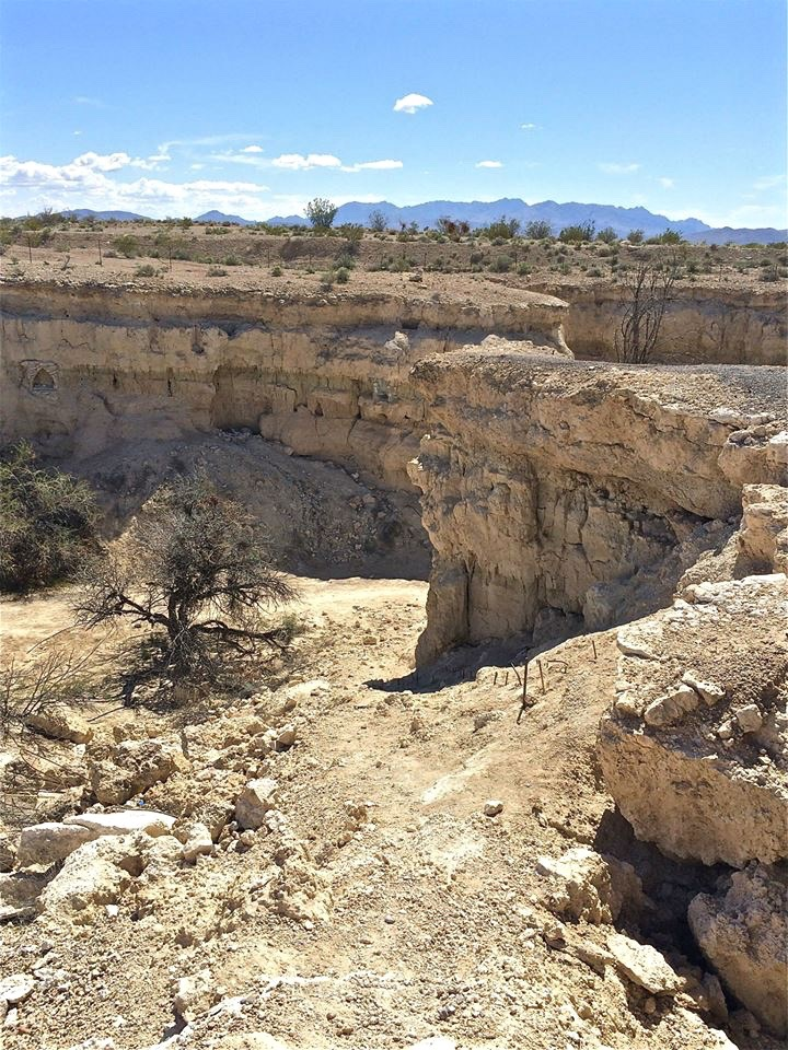 Cathedral Canyon is about one-third of a mile long, from 50-to 200-feet wide, and perhaps 50-to 60-feet deep.