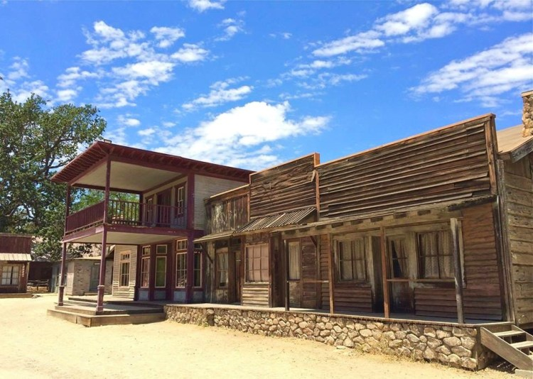 The present western town is not the original town built by Paramount Studio but is actually a recreated version of it that the NPS built after purchasing it back in the '80's.